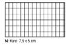Karo 7,5 x 5 cm