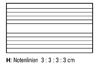 Notenlinien 3 : 3 : 3 : 3 cm